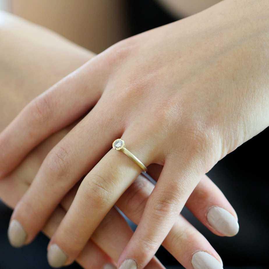 diana porter 9k rose gold congac colour diamond engagement ring designyard contemporary jewellery gallery dublin ireland