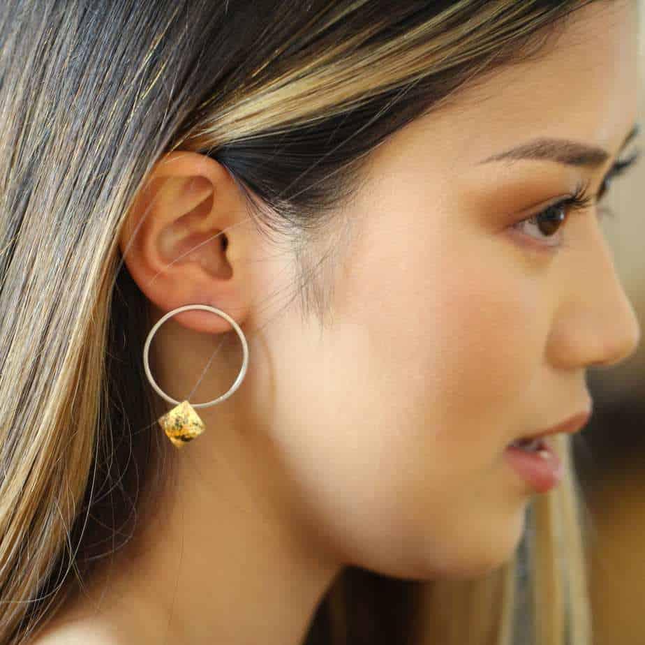 heather o connor silver large hoop pillow earrings designyard contemporary jewellery gallery dublin irela