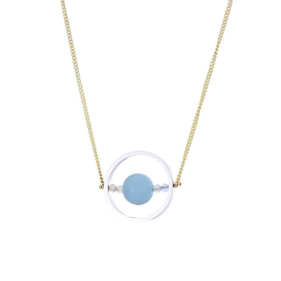 nicole van der wolf 9k yellow gold silver ice ring blue beryl aquamarine necklace designyard contemporary jewellery gallery dublin ireland