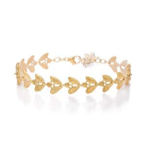 brigitte adolph bracelet emilia in 18k yellow gold with brilliant diamonds 1096-gg-cha designyard contemporary jewellery gallery dublin ireland