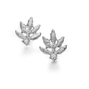 brigitte adolph earrings 18k white gold marilu diamond earrings 2027-GG-cha designyard contemporary jewellery gallery dublin ireland