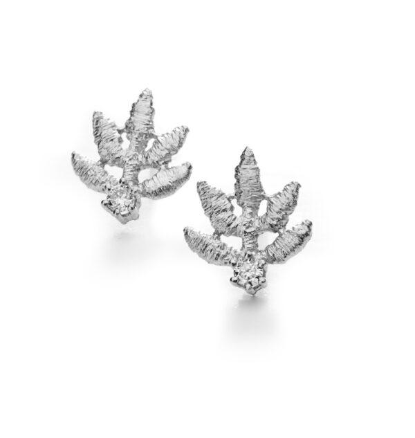 brigitte adolph earrings 18k white gold marilu diamond earrings 2027-GG-cha designyard contemporary jewellery gallery dublin ireland