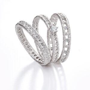 brigitte adolph engagement ring figaro solitaire in 18k white gold with brilliant cut diamonds 204-s30-wg solitaer designyard contemporary jewellery gallery dublin ireland