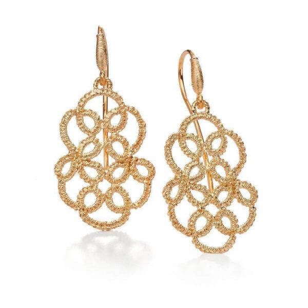 brigitte adolph pendant earrings lakmé in 18k rose gold 1100-rg designyard contemporary jewellery gallery dublin ireland