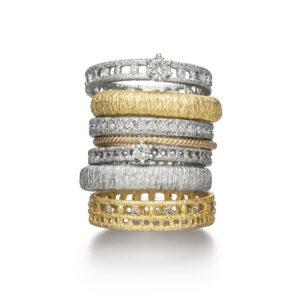 brigitte adolph ring othello in 18k yellow gold with brilliant cut diamonds 205-GG-12cha designyard contemporary jewellery gallery dublin ireland