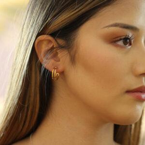 heather o connor silver gold plated parallel flat hoop earrings designyard contemporary jewellery gallery dublin ireland