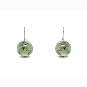 inga reed sterling silver phrenite short drop earrings designyard contemporary jewellery gallery dublin ireland