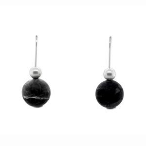 inga reed sterling silver picasso jasper drop earrings designyard contemporary jewellery gallery dublin ireland