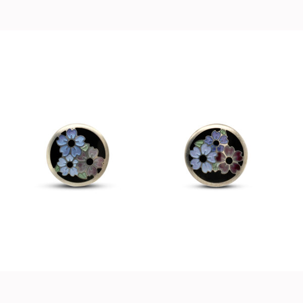 jane moore sterling silver enamel round flower stud earrings designyard contemporary jewellery gallery dublin ireland