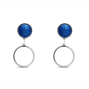 jane moore sterling silver round light blue enamel drop earrings designyard contemporary jewellery gallery dublin ireland