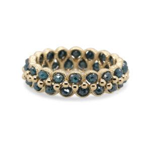 myriam oude vrielink 14k yellow gold midnight blue diamond ring designyard contemporary jewellery gallery dublin ireland