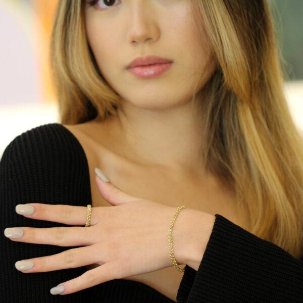 myriam oude vrielink 14k yellow gold yellow diamond bracelet designyard contemporary jewellery gallery dublin ireland