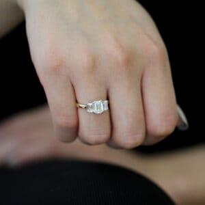ronan campbell emerald trilogia diamond engagemet ring designyard contemporary jewellery gallery dublin ireland