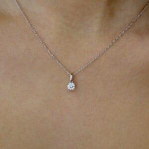 18k white gold diamond solitaire pendant designyard contemporary jewellery gallery dublin ireland
