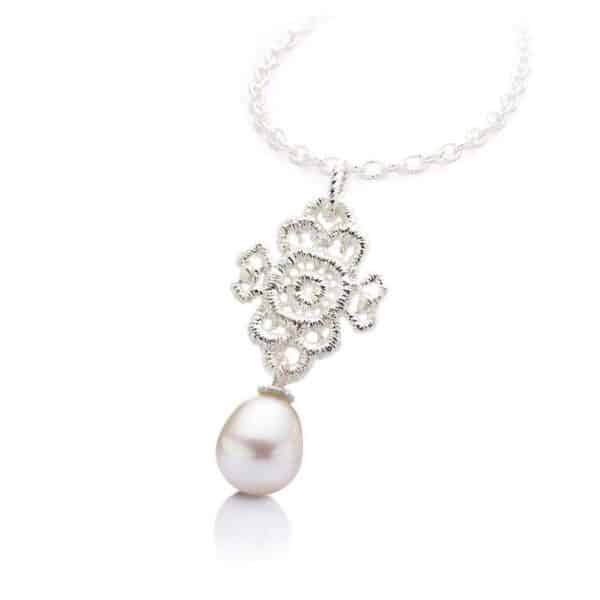 brigitte adolph sterling silver mona lisa pearl pendant designyard contemporary jewellery gallery dublin ireland handmade jewelry