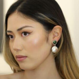 jane moore sterling silver dark green enamel drop flower earrings designyard contemporary jewellery gallery dublin ireland