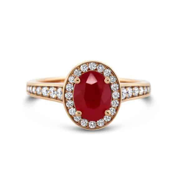 ronan campbell 18k rose gold ruby diamond ring designyard contemporary jewellery gallery dublin ireland