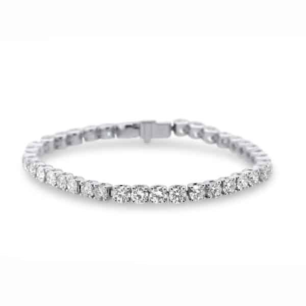 ronan campbell 18k white gold diamond tennis bracelet designyard contemporary jewellery gallery dublin ireland