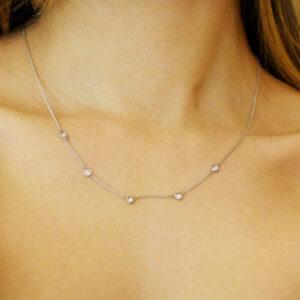 ronan campbell 18k white gold volitare diamond necklace designyard contemporary jewellery gallery dublin ireland