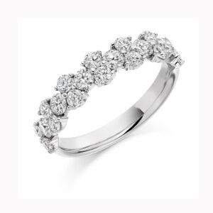 ronan campbell platinum duo diamond engagement eternity ring designyard contemporary jewellery gallery dublin ireland