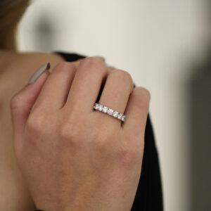 ronan campbell platinum novem diamond engagement ring eternity ring designyard contemporary jewellery gallery dublin ireland
