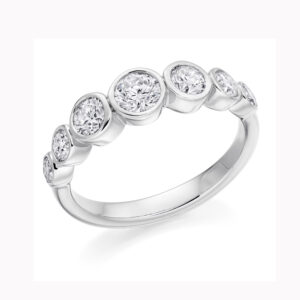 ronan campbell platinum seven bezel diamond engagement eternity ring designyard contemporary jewellery gallery dublin ireland