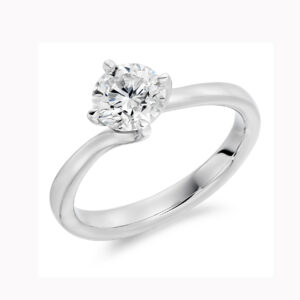 ronan campbell platinum twist round diamond engagement ring designyard contemporary jewellery gallery dublin ireland