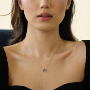 josephine bergsoe white gold diatom diamond necklace designyard contemporary jewellery gallery dublin ireland fine jewelry design