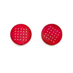 roger bennett sterling silver red wood maple earrings designyard contemporary jewellery gallery dublin ireland handmade jewelry