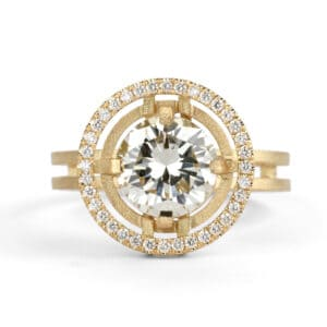 shimell and madden compass set two circle pave diamond engagement ring designyard contemporary jewellery gallery dublin ireland