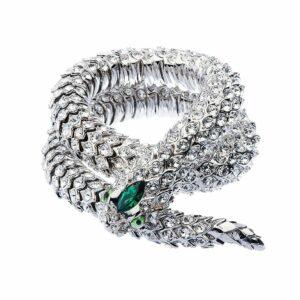 simon harrison shj140-01-09 crystal snake green necklace designyard contemporary jewellery gallery dublin ireland