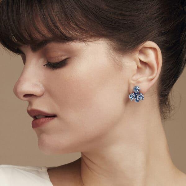 simon harrison shj189-01-30 coral small cluster blue earrings designyard contemporary jewellery gallery dublin ireland handmade designer design jewelry shop irish