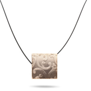 ursula muller black reversible black champagne aluminium necklace designyard contemporary jewellery gallery dublin ireland handmade artist designer jewelry shop jewellers design irish