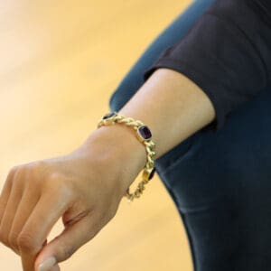 14k yellow gold vintage amethyst bracelet designyard vintage edit collection dublin ireland antique jewelry design designer jewellers irish shop
