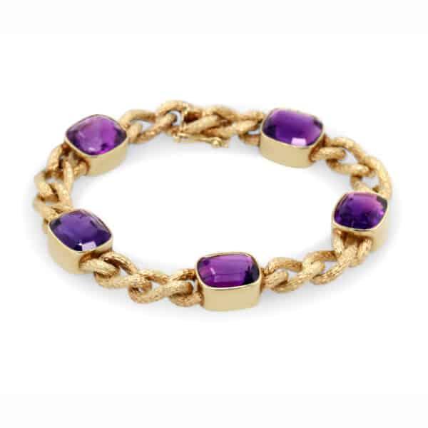 14k yellow gold vintage amethyst bracelet designyard vintage edit collection dublin ireland jewellers shop design designer vintage edit collectors item