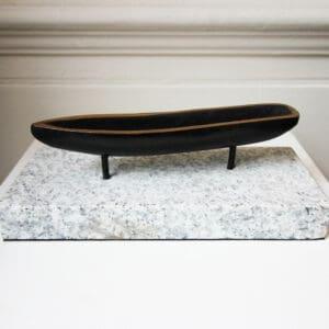 bronze curragh sculpture on wicklow granite base designyard contemporary art gallery dublin ireland handmade irish shop