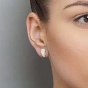 jana reinhardt white gold wing stud earrings designyard contemporary jewellery gallery dublin ireland handmade irish design designer jewellers jewelry shop store luxury exclusive