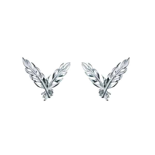 simon harrison daedalus stud feather earrings shj256-05-03 designyard contemporary jewellery gallery dublin ireland handmade jewelry designer design shop