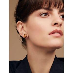 simon harrison leto enamel stud earring shj176-02-10 designyard contemporary jewellery gallery dublin ireland handmade jewelry design designer shop