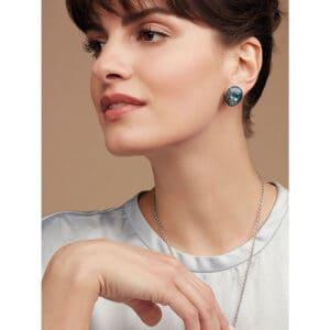 simon harrison mock turtle stud earrings blue shj095-01-14 designyard contemporary jewellery gallery dublin ireland handmade designer jewelry design irish shop