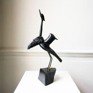 tony downey bog oak wood sculpture going places designyard contemporary art gallery dubin ireland handmade art irish