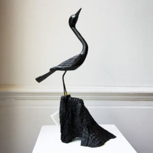 tony downey elegance bog oak bird sculpture designyard contemporary art gallery dublin ireland handmade contemporary irish art