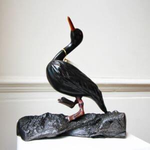 tony downey irish bog oak sculpture duck step designyard contemporary art gallery dublin ireland handmade irish art designer design shop