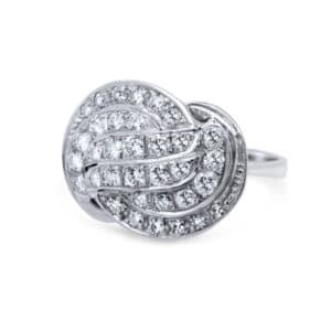 14k white gold diamond ring designyard vintage jewellery edit dublin ireland jewellers jewelry alternative shop design designer irish