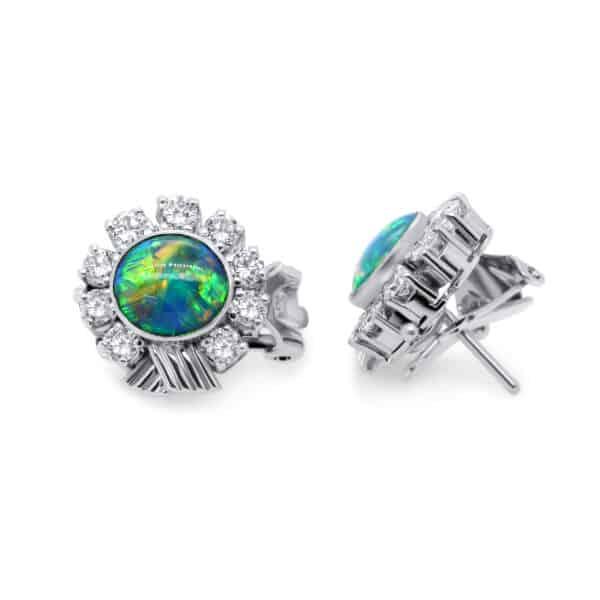 14k white gold opal diamond earrings designyard vintage jewellery edit dublin ireland jewellers design designer jewelry shop