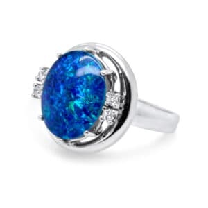 18k white gold opal diamond ring designyard vintage jewellery edit dublin ireland jewellers designer design shop irish jewelry