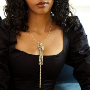 18k yellow gold ruby sapphire emerald diamond panther brooch bracelet necklace designyard vintage jewellery edit dublin ireland antique vintage jewelry design jewellers shop