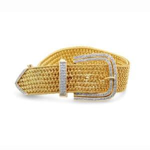 18k yellow gold vintage diamond buckle bracelet designyard vintage jewellery edit dublin ireland vintage jewelry design designer jewellers shop