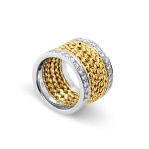 18k yellow white gold vintage diamond ring designyard vintage jewellery edit dublin ireland handmade jewelry design designer jewellers shop vintage preowned