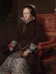 Mary I wears La Peregrina - painted by antonis mor 1554